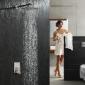 绮美斯入墙式淋浴不锈钢方形冷热水器卫浴喷头雨淋顶喷花洒套装