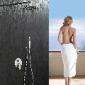 绮美斯暗装不锈钢淋浴花洒入墙式水龙头套装莲蓬头拉丝大沐浴喷头