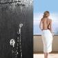 绮美斯入墙式不锈钢大淋浴器吊吸顶喷头暗装冷热水龙头拉丝花洒