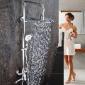 绮美斯浴室不锈钢挂墙式明装大淋浴增压花洒套装淋浴器冷热水龙头